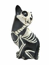 Day of the Dead Cat Meowing Muertos Cat Sugar Skull Cat Halloween Decor Gift 6""
