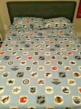 Pottery Barn Teen NHL Hockey Western Conference Full Flat Fitted Pillowcase Set