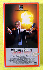 Wrong Is Right ~ New VHS Movie ~ 1982 Sean Connery ~ Rare RCA Sealed Video