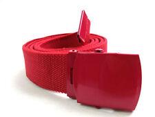 Cinture da uomo in tela rossa