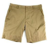 Nike Golf Men's Dri-Fit Flat Front Stretch Pockets Khaki Brown Shorts 38