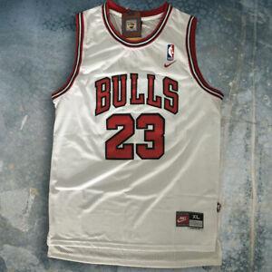 Michael Jordan Chicago Bulls White  #23 Men's Basketball Jersey Size M L XL