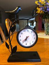 quartz decorative black/ bird theme metal clock