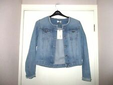LADIES M&S INDIGO pale blue denim jacket size 8 BNWT