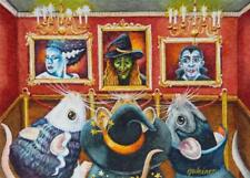 ACEO Limited Edition Print Halloween Mouse Mice Costume Art Museum by J. Weiner