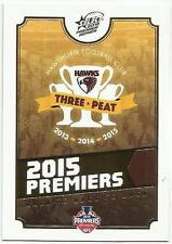 2015 AFL SELECT HAWTHORN THREE PEAT SCORE CARD PC1 PREMIERSHIP CARD