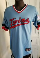 Men's Majestic Cooperstown Collection MINNESOTA TWINS Throwback MLB JERSEY M-L