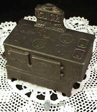 Vintage Banthrico Still Coin Bank 1974 Figural Antique Wood Cook Stove Woodstove