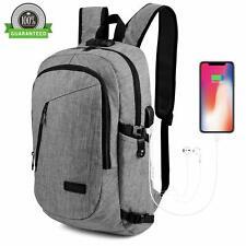 """Waterproof Swiss Travel Backpack Men 17""""Laptop multifunction Outdoor School Bag"""