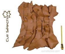 11f3d6e8628 Lot 1 kg de chutes de cuir Chèvre marron peau souple - Cuir Sélection