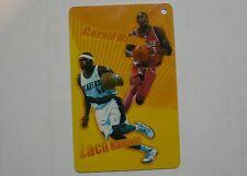 NBA Portland Blazers Zach Randolph & Charlotte Bobcats Gerald Wallace Sportscard