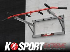 WALL MOUNTED IRON CHIN UP PUSH UP PULL UP K-SPORT BAR IDEAL FOR CROSS FIT