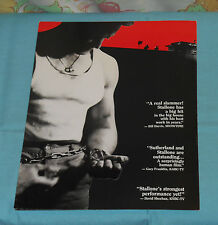 vintage LOCK UP video store ADVERTISING BROCHURE Sylvester Stallone