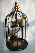 Jeff Banks Copper Coloured Birdcage Candle Holder Ports Of Call 33 cm 75244
