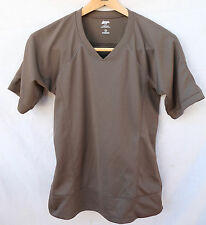 MOUNTAIN EQUIPMENT CO-OP small dark brown POLYESTER short-sleeved BLOUSE