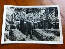 Lot50 - WW2 Original Photo Ceremonial Opening of a GARDEN ?