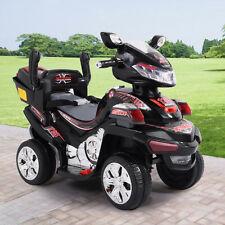 Kids Ride On ATV Quad 4 Wheel Electric Toy Car 6V Battery Power W/Remote Black
