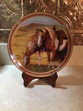 Danbury Mint Painted Heights -On The Range Horse Ltd Ed Plate Susie Morton Nice