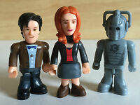 FREE POST 3 character building DR WHO FIGURES 11th Doctor Amy Pond Cyberman
