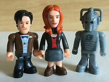 ~ DR WHO ~ 3 x MINI FIGURES ~ 11th Doctor = Amy Pond = Cyberman ~ Cake Toppers