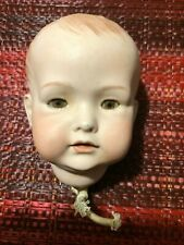 """Germany 70'S Bisque Doll Head Body Parts 5"""" Brown Eyes Vernon Seeley Painted"""