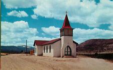 Postcard Immaculate Conception Church, Cimmaron, New Mexico