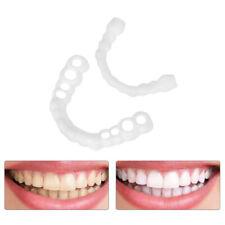 2Pairs Perfect Smile Snap On Teeth Fake Upper Lower Cosmetic Tooth Dental Veneer
