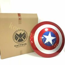 More details for cattoys v2.0 captain america shield 1:1 abs 22'' cosplay original gift new inbox