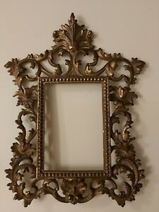ANTIQUE ROCOCO  BRASS ORMOLU EMPTY PICTURE PHOTO FRAME