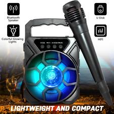 Tragbarer Bluetooth Lautsprecher Box Musikbox Boombox Karaoke Party mit Mikrofon