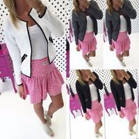Winter Women Casual Jacket Long Sleeve Zipper Blazer Suit Outwear Slim Coat Tops