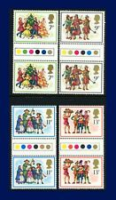 1978 SG1071-1074 7p-13p Christmas Set (4) Traffic Light Gutter Pairs MNH arrt