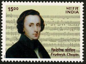 INDIA 2001 Fryderyk Chopin Music Composer Poland Musical Score MUH