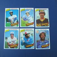 MONTREAL EXPOS 1980 COLLECTION (64 items different) OPC cards & Signed AUTO LOOK
