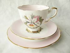 """Royal Stafford Cup Saucer Dessert Plate Trio - """"White Lady"""""""