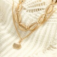 Fashion Women Jewelry Clavicle Necklace Shell Pendant Chain Jewelry Gift