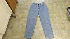 G.H.BASS Classic Leg 5 Pocket High Waist Cotton Jeans  Women 14 Avg  #3735