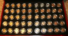 Last 50 Uncirculated Wheat Head Pennies 1941-1958 in Cherry Hard Case