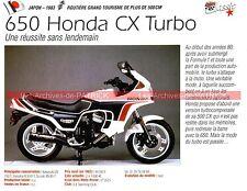 HONDA CX 650 Turbo 1983 Fiche Moto 000186