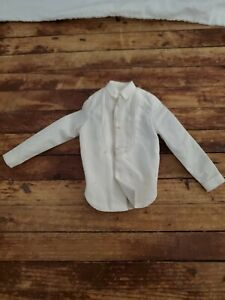 Vintage White Tux Dress Shirt Hasbro Barbie KEN DOLL1960's & 70's ACCESSORY