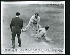 Duke Snider & Teddy Kazanski 1956 Press Photo Brooklyn Dodgers Phillies