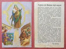 Santino Holy Card: M. Barberis - Preghiera alla Madonna degli emigrati