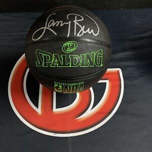 Larry Bird Boston Celtics Signed Black & Green Spalding Basketball JSA & LB