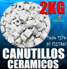 CANUTILLOS 2KG CERAMICOS CERAMICA ACUARIO TODO tipo FILTROS ESPECIAL BACTERIAS
