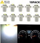 10 Led White Instrument Cluster Bulbs And Sockets Dashboard Panel Light For Ford