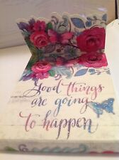 """Good Things Are Going To Happen"" Punch Studio Sparkling Mini-Pocket Notepad"