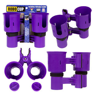 *ROBOCUP*  Clamp On Drink Cup Holder Wheelchair Walker Crutches Rollator Scooter