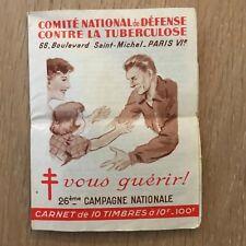 Carnet de Timbres - Comité National de Défense contre la Tuberculose - 26ème