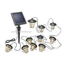 Solar LED Lichterkette Lampion Laternendesign Garten Beleuchtung Deko Licht Asia
