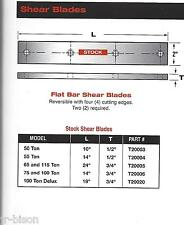 "Edwards - CST  14"" Flat Shear Blades for 75 & 100- ton Ironworkers"